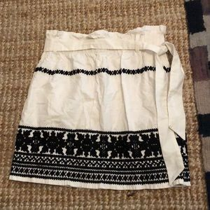 Topshop Paper Bag Cotton Skirt
